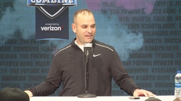 Dave Caldwell Meets the Media at NFL Combine