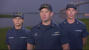 U.S Coast Guard talks about heroic rescue of trapped crewmembers after ship overturns