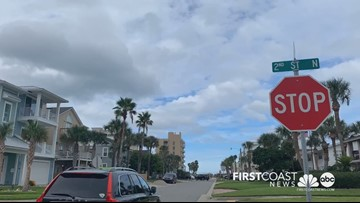 Storm clouds rolled through the Jacksonville Beach area Friday evening