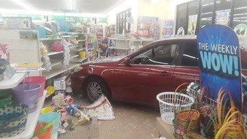 Vehicle crashes into Dollar Tree in North Jacksonville