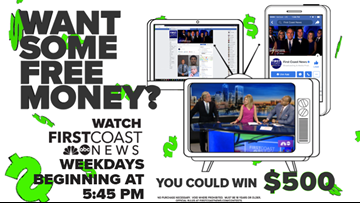 "Want to win $500? Watch First Coast News at 5:45 pm weekdays & look for the ""Word of the Day"""