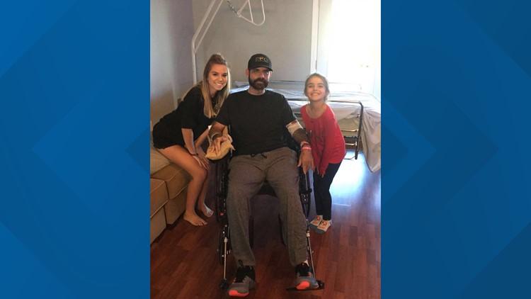 Lt. Taylor in wheelchair