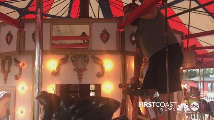 Historic St. Augustine carousel being moved Monday