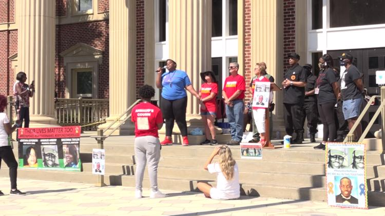 Pre-trial rally, ride for Ahmaud Arbery fills streets of Brunswick