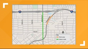 Detour scheduled for Roosevelt Boulevard this weekend