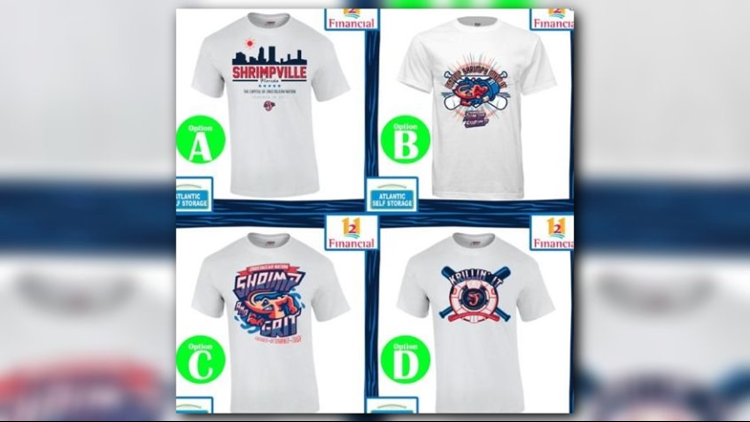 Four finalists selected in Jacksonville Jumbo Shrimp t-shirt contest