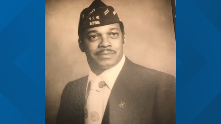 Mel Garrett in his military days serving with the VFW