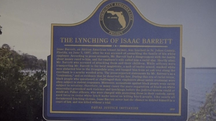 Lynching marker sits in St. Augustine museum closet waiting to be placed