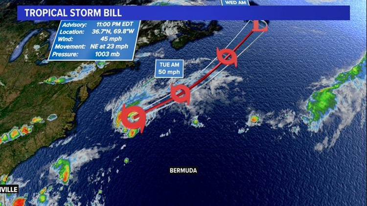 Tropics: Tropical Storm Bill has formed over the Atlantic, Gulf cyclone forming