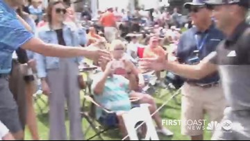 VIDEO: Golfer Sergio Garcia helps fan propose to girlfriend at TPC Sawgrass