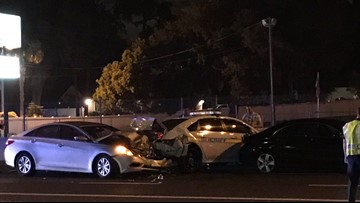 JSO: Two officers involved in separate crashes on Arlington Expressway near Southside Connector