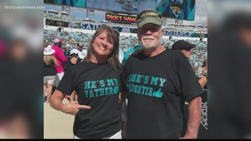 Daughter, biological father reunite at Jaguars game