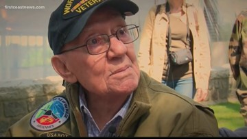 'Thank you. You were very brave.' He was 17 years old when he drove a tank on D-Day