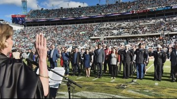 79 new American citizens to be sworn-in at Jaguars v. Colts game