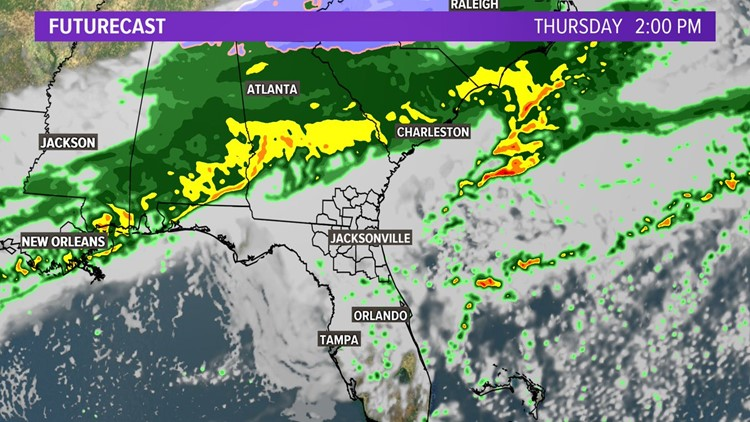 First Coast Forecast: Warm & humid before turning,cool then wet and then windy