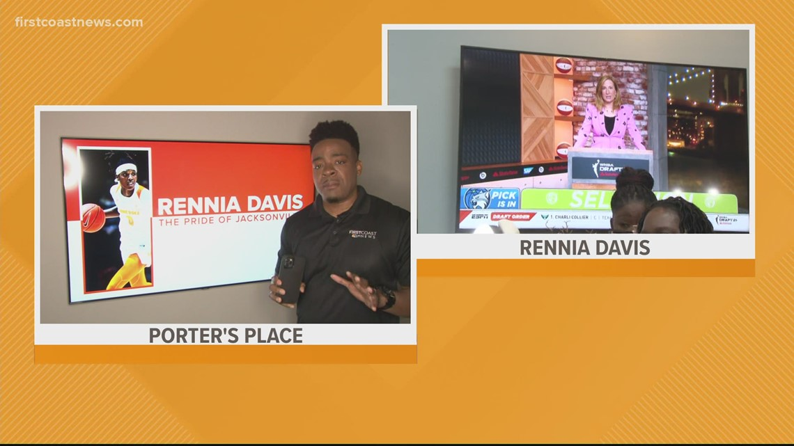 'It was a whole mood': Ribault grad Rennia Davis drafted 9th overall in the WNBA Draft