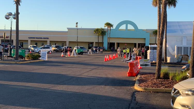Some experience confusion at Gateway Mall vaccine site on its second day open