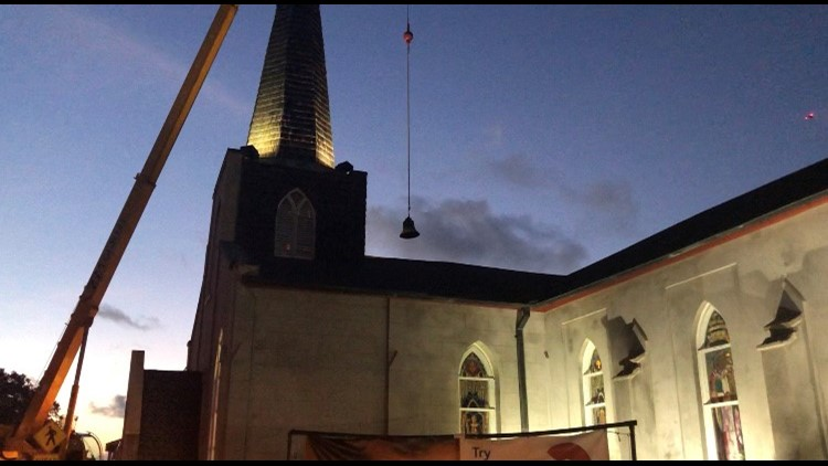 178-year-old church bell returns to St. Augustine after months of restoration
