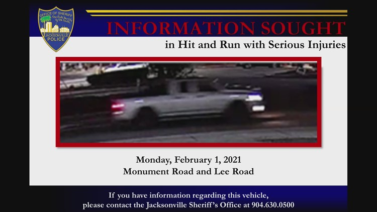 Raw Video: JSO looking for this vehicle, reportedly involved in hit-and-run crash with serious injuries