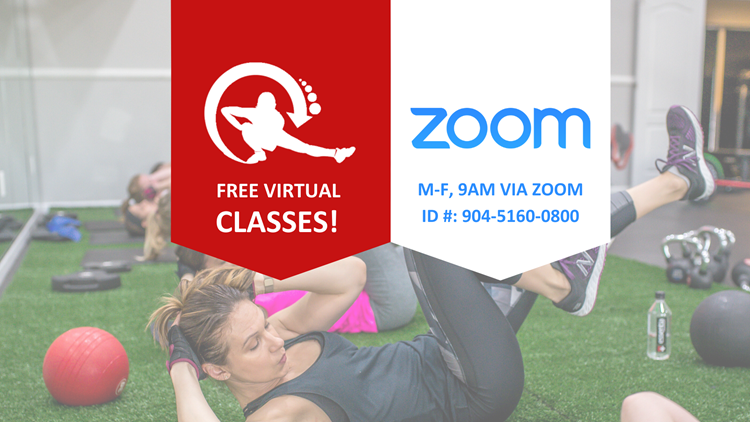 Here's the code to join free virtual fitness classes on the ZOOM app