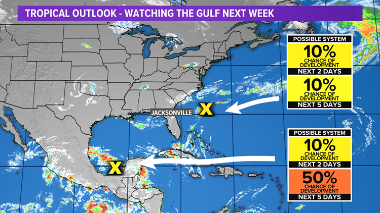 Tropics: Tracking two areas of possible development