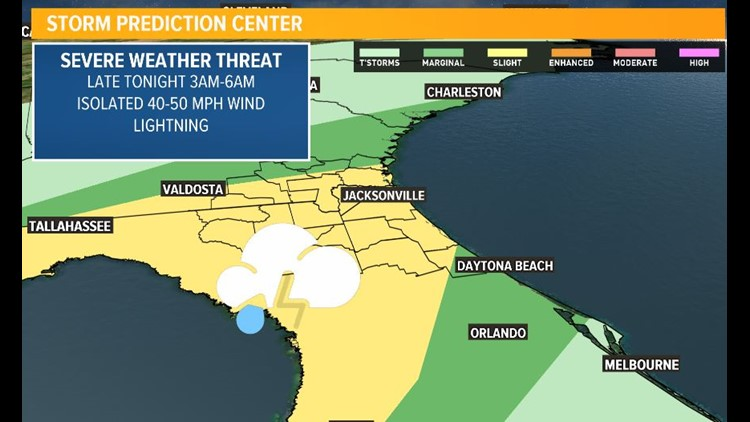 First Coast Forecast: For most a lull in storms until after midnight