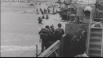 WWII veteran talks about his memories of fighting in Normandy, France & Germany