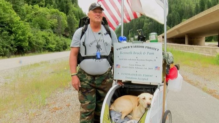 Clay County veteran walks over 2,600 miles to support wounded warriors