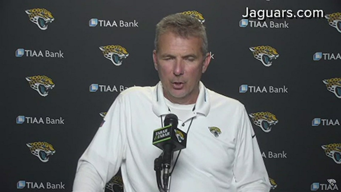 Urban Meyer, Brandon Linder on Jaguars' OTAs