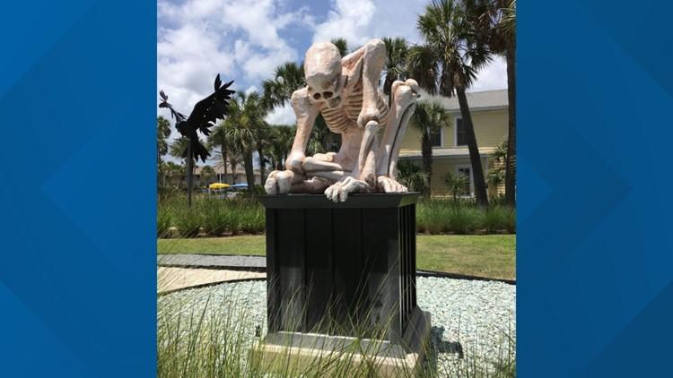 Crouching Skeletal Figure by Matt Stanford