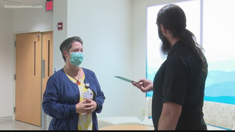 Nurse who shares love of music with patients surprised with $2,000 Guitar Center gift card