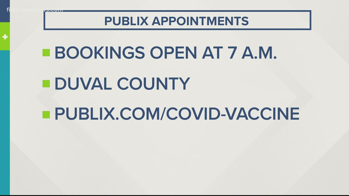 Publix vaccine appointments open Wednesday after delays due to wintry weather