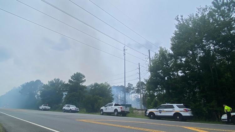 JFRD responding to brush fire on Main Street