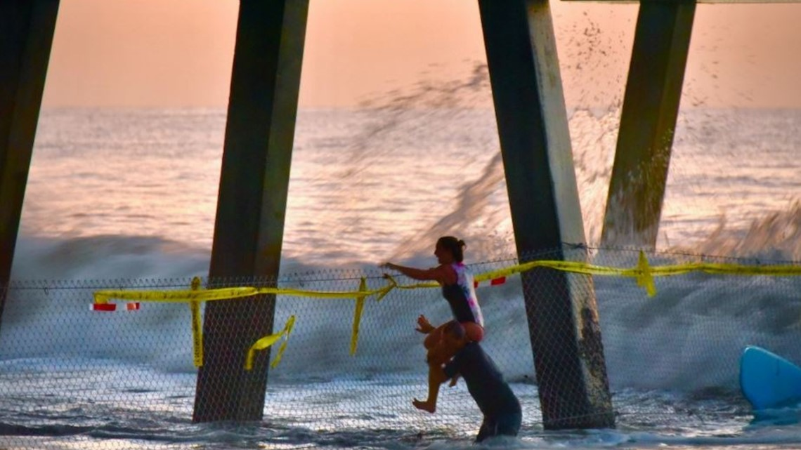 Surfer helps save woman in distress at Jacksonville Beach Pier