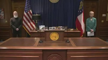 Georgia Gov. Kemp gives update on the state's COVID-19 cases, which has resulted in 10 deaths