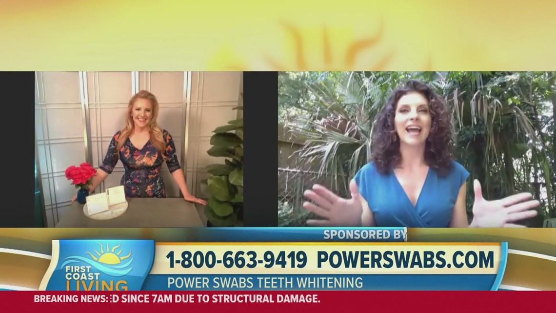 Whiten teeth in just minutes with Power Swabs