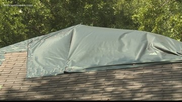 Hurricane Dorian brings fear to homeowner still waiting on new roof after 10 months