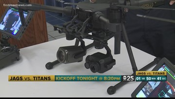 Drones offering added protection during Thursday night's Jaguars game
