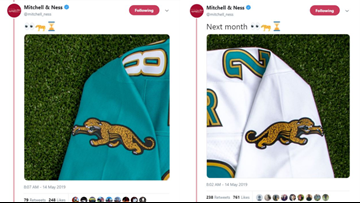 low priced c0300 a422c Old school Jaguars jerseys making a comeback ...