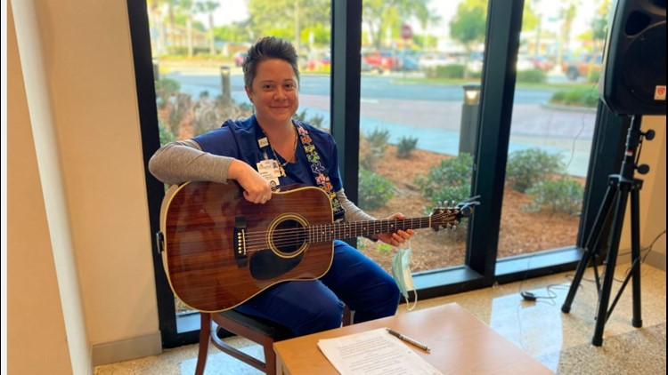 Guitar Center CEO gifts Orange Park nurse $2,000 gift card after hearing her play for patients