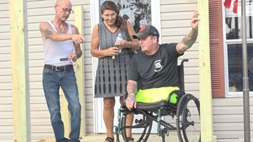 Volunteers build 42-foot ramp for Jacksonville veteran who lost both legs in Afghanistan