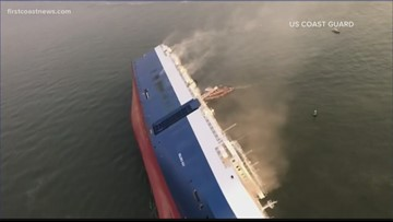 After a 40-hour race against time, all crew members rescued from overturned cargo ship in St. Simons Sound