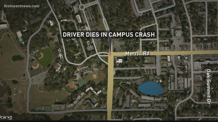 Woman Dies After Car Crashes Into Jacksonville University Building
