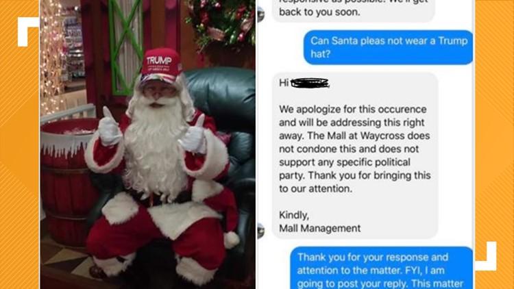 Santa wearing Trump hat