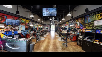 Barbershop with craft beer, vintage video games is ready to give you a hot towel shave