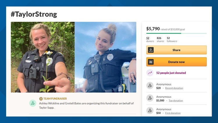 Lake City police officer diagnosed with lymphoma; community raises funds to help