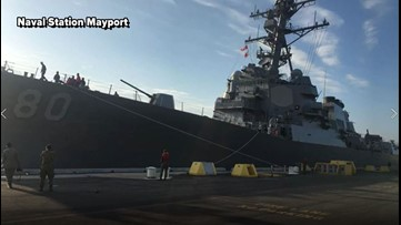Mayport Naval ship takes off to Spain, 300 onboard not tested for coronavirus