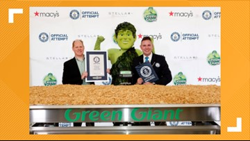 Green Giant sets Guinness World Record of largest serving of green bean casserole at 1,009 lbs.