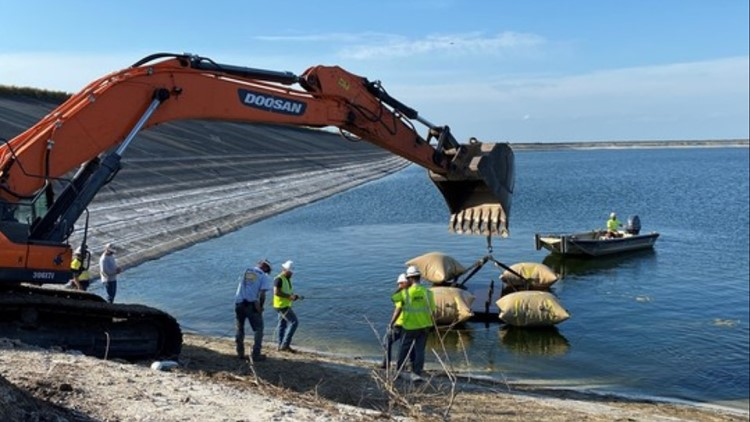 DEP: Temporary repair made to Piney Point wastewater reservoir liner