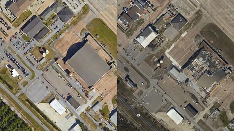 Tyndall Air Force Base before after 10 11 18